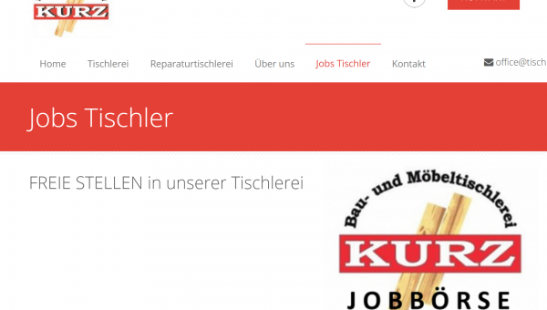 Jobplattform Homepage web